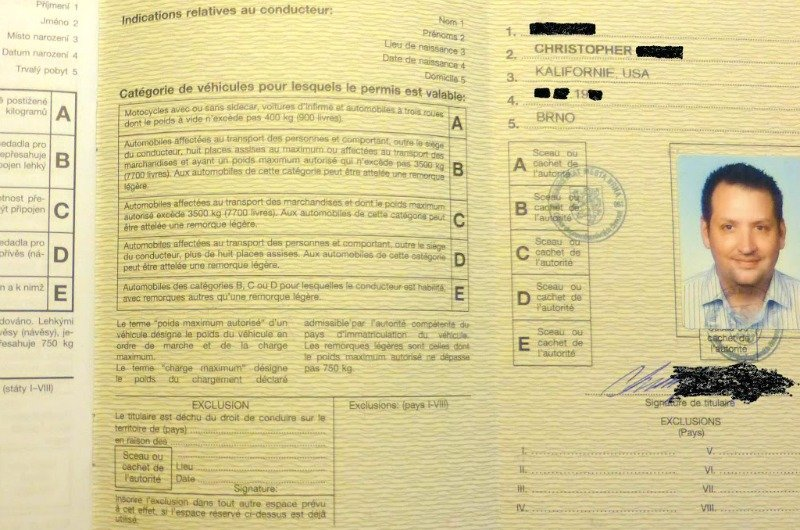 Spain International Driver Licence Permit